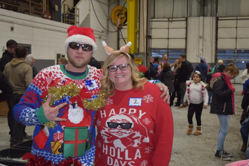 Ugly Sweater Contest at our Holiday Party